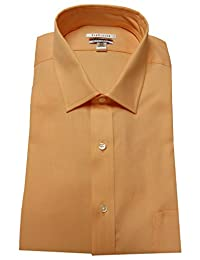 Van Heusen Men's Regular Fit Pin Cord Shirt, 35, Melon Pop/Orange