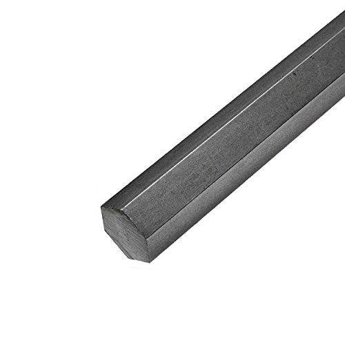 Online Metal Supply 12L14 Steel Hex Bar, Diameter: 0.375 (3/8 inch), Length: 48 inches, (3 Pack)