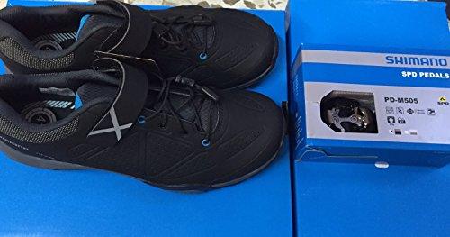 Shimano Mt44 50-trail Chaussures Vtt & Pdm520 Silver & Sh51-taquets Pour Pédales