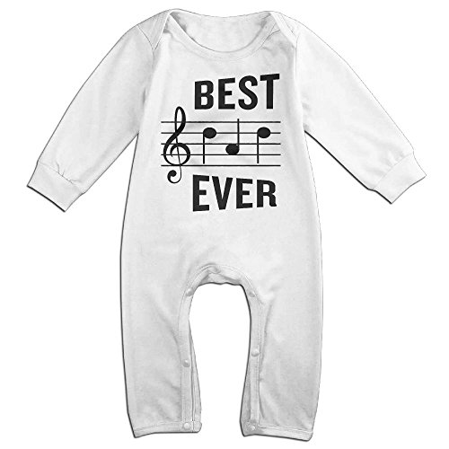 Old Gym Teacher Costume (Beautiful Musical Note Boy & Girl Long Sleeve Climbing Clothes Romper Jumpsuit Size 12 Months White Customize)