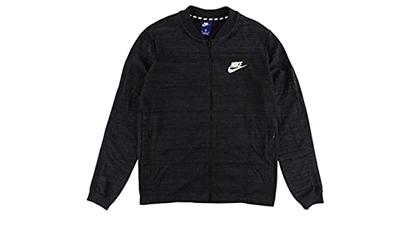 f061fb7a0a7 Amazon.com: Nike Sportswear Advance 15 Fleece Knit Black Heather Full-Zip Jacket  Size 2XL: Clothing