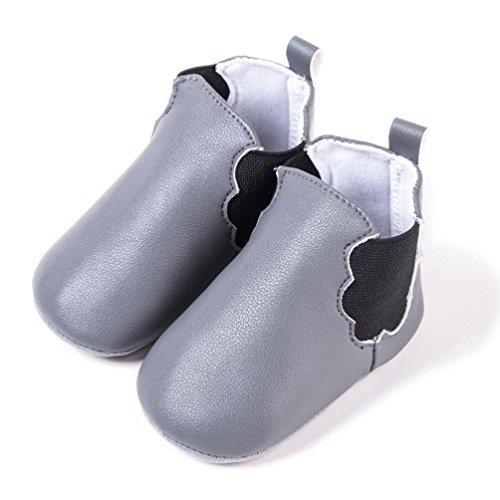 Omiky® Neugeborene Kleinkinder Baby Mädchen Junge Wolken Weiche rutschfeste Schuhe Warme Stiefel Grau