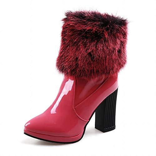 Rossa Con Stivali spessi Rosa 34 Da Caldi 43 Velluto scarpe Corte Neve Scarponi In Invernali Xe Donna Cotone aAdTwqwY