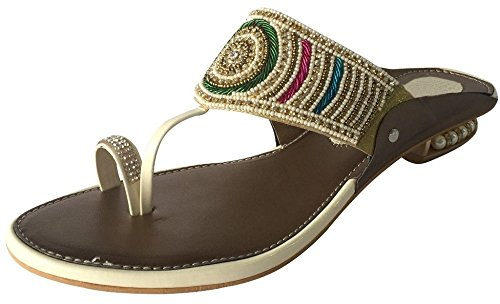 Schritt N Style Damen Schuhe Satin Brautjungfer Mid Ferse Anlass Ball Party Khussa jutti