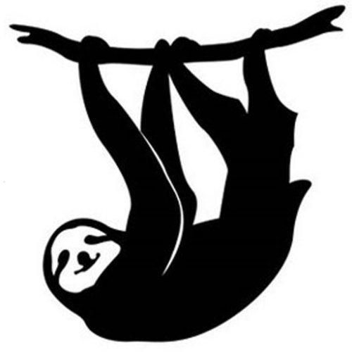 Sloth vinyl decal