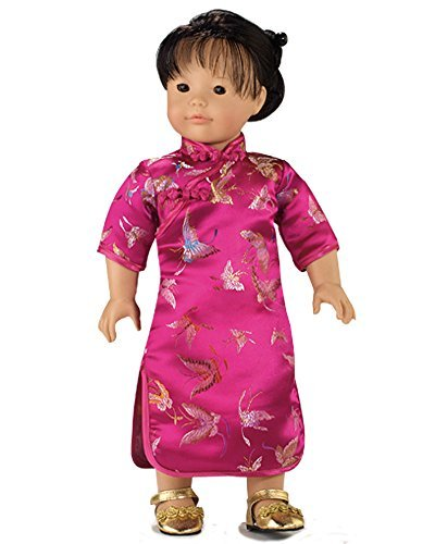 18 Inch Doll Dress, Fuchsia Mandarin Dress Perfect for 18 Inch American Girl Doll Clothes & More! Fuchsia Mandarin Dress for 18 Inch Dolls. Chinese New Year Doll Dress ()