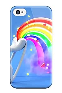 Awesome Funny Cartoon Rainbow Fart Flip Case With Fashion Design For Iphone 4/4s