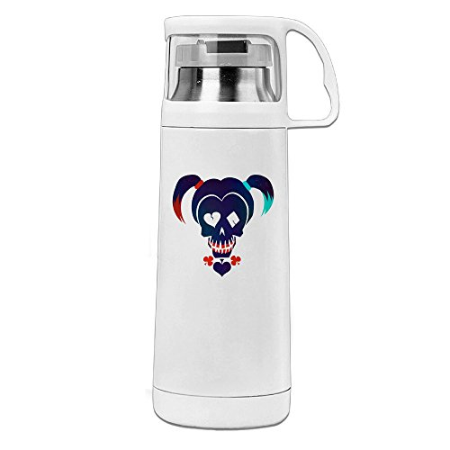 MARC Stainless Steel Vacuum Insulated Travel Mug Suicide Squad Thermal Travel Coffee Mug White 14oz/350ml