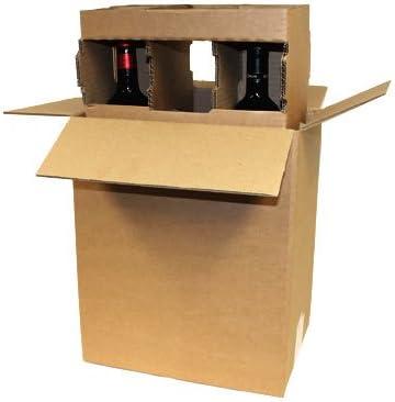 10 x cartón Cajas de vino con inserciones – 1, 3 o 6 botellas – ref awpb 325 x 125 x 384mm: Amazon.es: Oficina y papelería