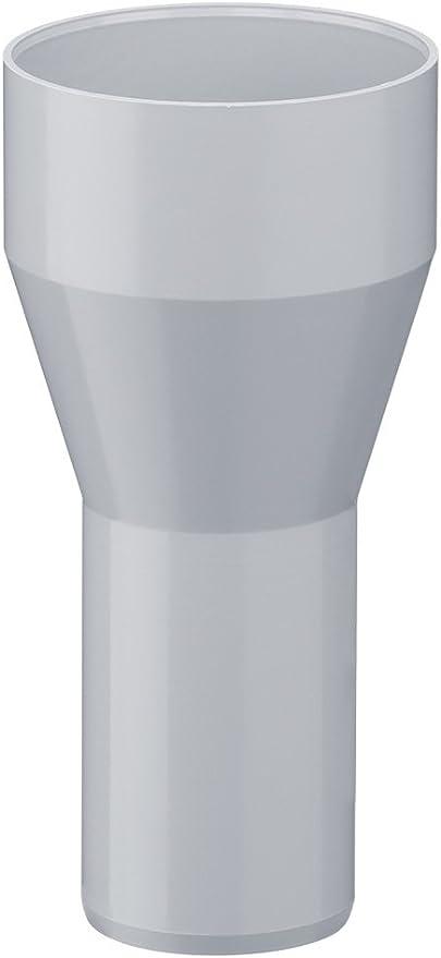 Wei/ß Kunststoff INEFA Reduzierst/ück DN 100//75 Dachrinne Regenrinne