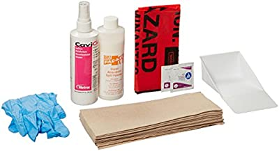 Pac-Kit by First Aid Only 00702 59 Piece Bloodborne Spill Clean-up Refill Kit, For Large Industrial BBP Cabinet from Pac-Kit