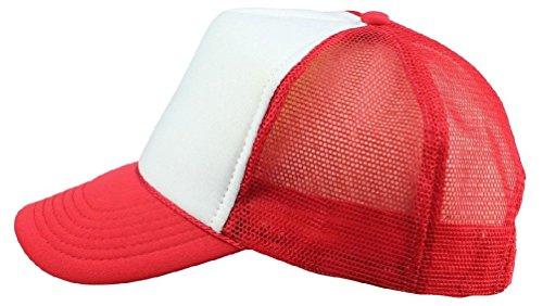 New Youth Trucker Hat Ball Cap Mesh Kids Blank Plain S Xs Red Blue Gray Black White