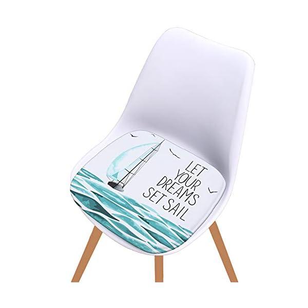 WDOIT - Cuscino per Sedia, particolarmente Imbottito, per mobili in Rattan, da Giardino, Stile 4, 40 * 40cm 4 spesavip