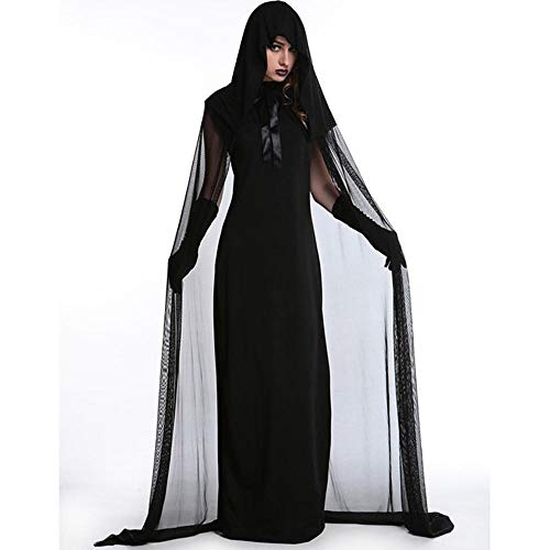 Yunfeng Witch Costume Witch Costume Halloween Costume Easter Makeup Party Demon Vampire Bride Witch -