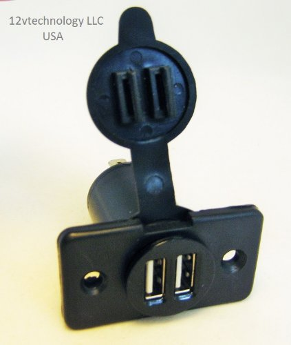Dual USB Charger Socket 12 Volt Outlet Plug Jack Panel ...