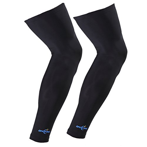 OpeCking Compression Leg Sleeves Knee Brace for Sports, Running, Basketball, Calf Knee Pain Relief, Improve Blood Circulation and Injury Recovery Best Leg Support for Men & Women - 1 Pair (Medium) by OpeCking