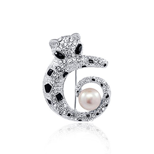 pearlpro Femme Perle Broche perle et strass