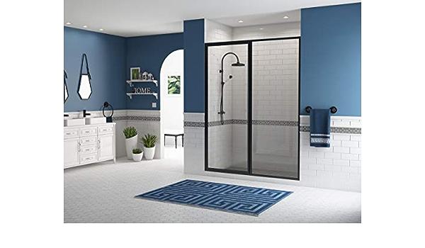Coastal Shower Doors L31il18 69b C Legend Series Framed Hinge Swing Shower Door With Inline Panel In Clear Glass 60 X 66 Black Bronze Amazon Com