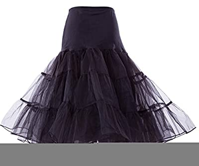 Poplarboy Women's Vintage Rockabilly Petticoat Skirt Tull 1950s Underskirt