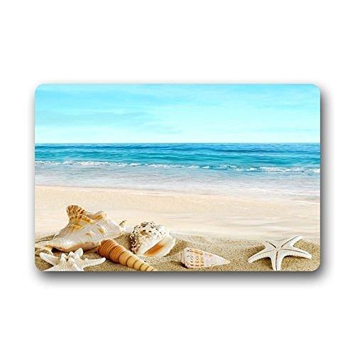 HiDoormat-Design-Fashions-Unique-Com-table-Style-Door-Mat-Decor-Gorgeous-Starfish-Seashells-Sand-Beach-Doormat-Floor-Mat-Bath-Mat-IndoorOutdoor-Mat-236-x-157-Inches