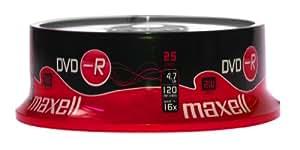 Maxell 275520.59.GB - DVD-R vírgenes (capacidad 4.7 GB, 25 unidades)