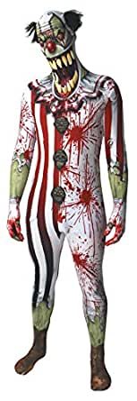 Zombie Clown Jaw Dropper Morphsuit Adult Costume