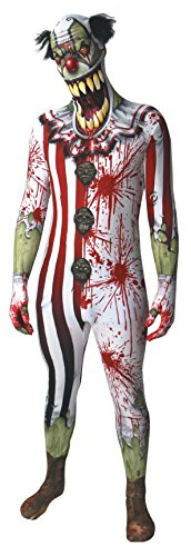 Zombie Clown Jaw Dropper Morphsuit Adult (Zombie Morphsuits)