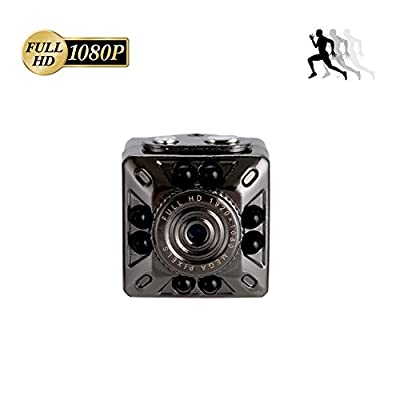 Ouomm Mini Camera,Hidden Camera with Infrared Night Vision,Spy Camcorder with Motion Detection,Nanny Cam USB Rechargeable,Full HD 1080P Video Recorder for Indoor/Outdoor (Home Office Car)