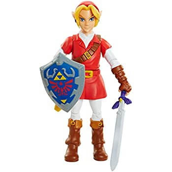 World of Nintendo, Legend of Zelda: Ocarina of Time Link in Goron Tunic Action Figure, 4 Inches