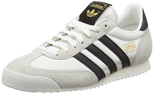 adidas Herren Dragon Sneakers, Weiß (Vintage White/Core Black/Off White), 44 2/3 EU