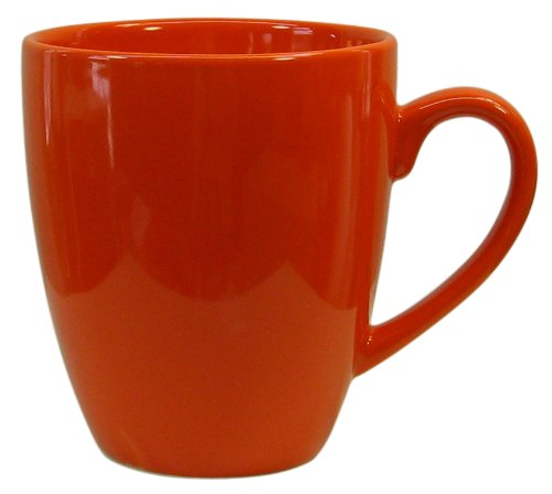Waechtersbach Fun Factory II Orange Jumbo Cafelatte Mugs, Set of 4