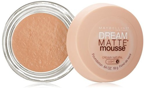 Maybelline Dream Matte Mousse Foundation, Creamy Natural, Light [5], 0.64 oz ()