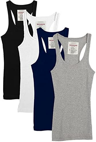 fd8095e03 Zenana Outfitters Trendyfriday 4 Pack or 2 Pack Women's Basic Ribbed Tank  Top