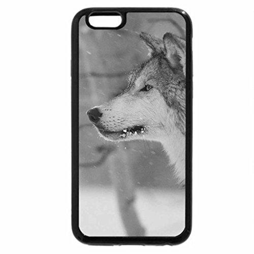 iPhone 6S Plus Case, iPhone 6 Plus Case (Black & White) - GLIMPSE OF THE LAVENDER WOLF