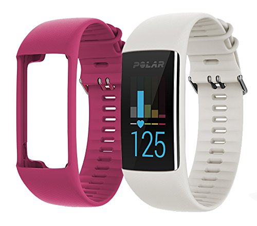 Polar A370 Fitness Band (White, Small) GIFT BOX Bundle   Includes Extra Band (Pink), PlayBetter USB Car/Wall Adapter, Protective Case   GPS Activity Tracker, Wrist-HR   Black Gift Box by PlayBetter (Image #6)
