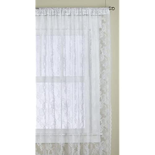 Lorraine Home Fashions Monaco Super Wide Tailored Window Panel 120 By 84 Inch Snow White Set Of 2