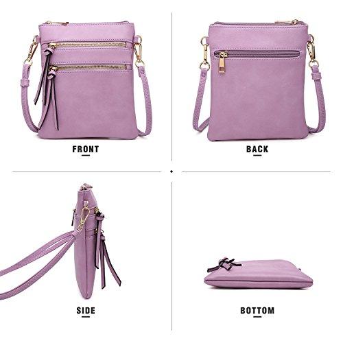 Green Bag Mini Lightweight Bag Pockets Multi Messenger Functional Crossbody Zipper SSqZ1R