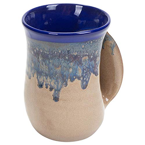 Clay in Motion Handwarmer Mug (Cobalt Canyon - Right)
