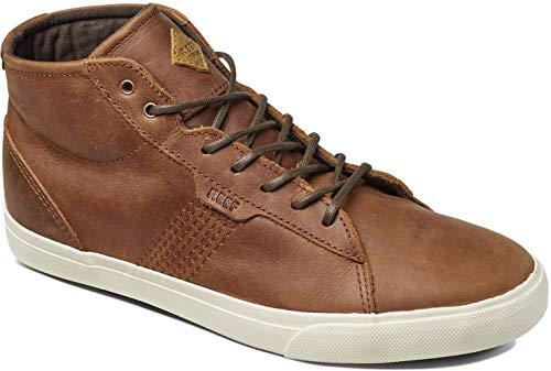 Reef Men's Ridge MID LUX Fashion Sneaker, Brown, 10 M US