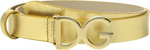 Dolce & Gabbana Kids Baby Girl's Logo Belt (Toddler/Little Kids/Big Kids) Gold MD (4-5 Little Kids) by Dolce & Gabbana