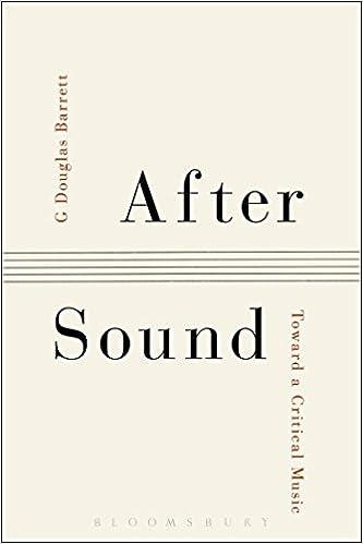 Workbook ay sound worksheets : After Sound: Toward a Critical Music: G Douglas Barrett ...