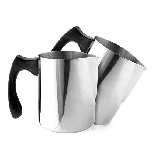 metal milk steaming pitcher - 3