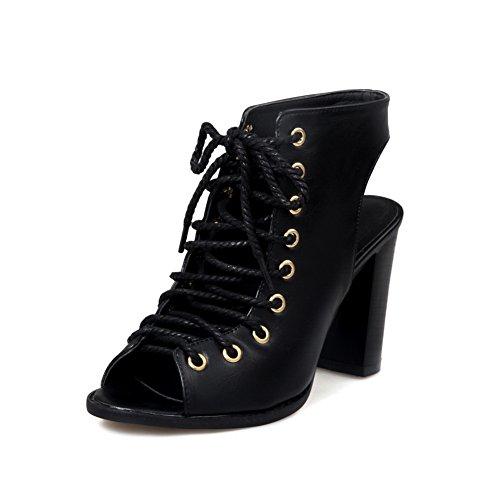 Bout 5 SLC04063 AdeeSu Ouvert Noir Femme Noir 36 Z50wq