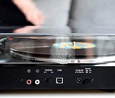 ION Audio Pro200BT - Plato giradiscos con transmisión inalámbrica, tracción por correa, dos velocidades, totalmente automático, Bluetooth y ...