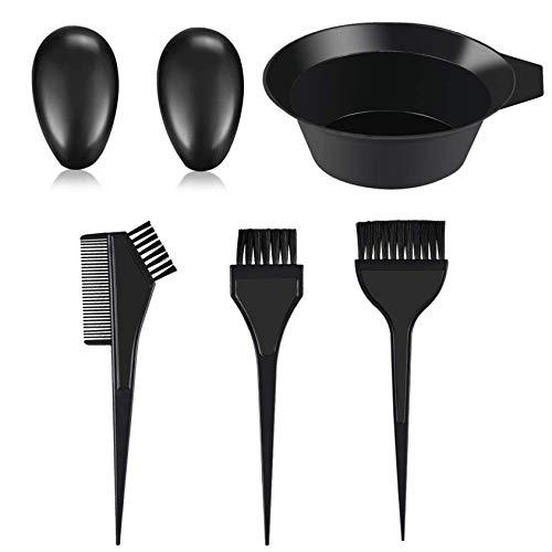 AIRERA 5 Pieces Hair Dye Kit, Hair Colour Brush and Bowl Set for DIY Hair Colouring Bleaching, Salon Hair Dye Kit, Dye Brush, Dye Comb, Mixing Bowl
