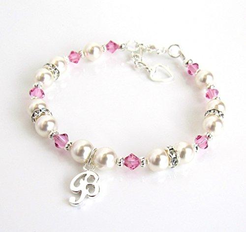 Personalized Jewelry for Girls, Charm Bracelets, CHOOSE CHARM/BIRTHSTONE/SIZE, Birthstone Jewelry for (Swarovski Baby Bracelet)