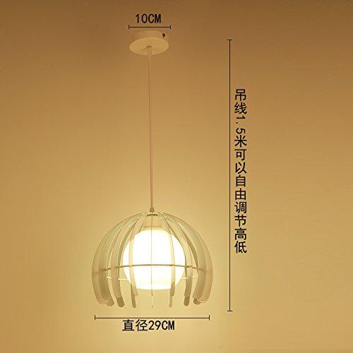 Luckyfree Kreative Modern Fashion Anhänger Leuchten Deckenleuchte Kronleuchter Schlafzimmer Wohnzimmer Küche, Weiß Single +9 Watt Chip Kämpfe geführt.