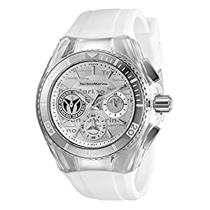 Technomarine Women's Cruise California Stainless Steel Quartz Watch with Silicone Strap, White, 26.25 (Model: TM-118130)