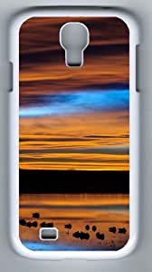 Samsung Galaxy S4 Cases - New Mexico Sunset Reflection Designer PC Case Cover For Samsung Galaxy S4 / SIV / I9500 - White
