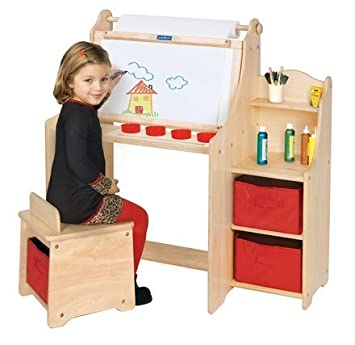 amazon com artist activity desk kids children toys games rh amazon com kids activity desk and chair set kids activity desk and chair